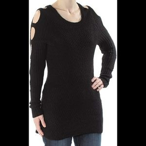 Large Ladder Sleeve Knit Top